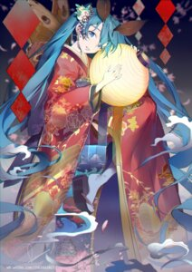 Rating: Safe Score: 45 Tags: hatsune_miku kimono rosele vocaloid User: Mr_GT