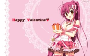 Rating: Safe Score: 60 Tags: chimaro cleavage karumaruka_circle kousaka_yukiha saga_planets thighhighs valentine wallpaper User: sy1412