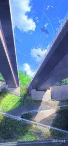 Rating: Safe Score: 36 Tags: kimi_no_na_wa landscape miyamizu_mitsuha niko_p seifuku sweater tachibana_taki User: RyuZU