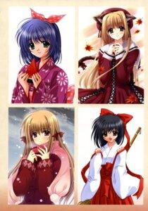 Rating: Safe Score: 16 Tags: animal_ears miko nekomimi nishimata_aoi seifuku tail valentine yukata User: fireattack