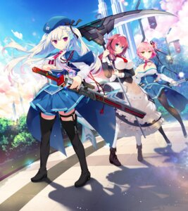 Rating: Safe Score: 36 Tags: crystalia garter gijang kazamine_matsurika maid pantyhose pero seifuku shinonome_ruri shiraha_kirameku_koi_shirabe skirt_lift stockings sword thighhighs tsukitachibana_hime usume_shirou weapon User: 糖果部部长