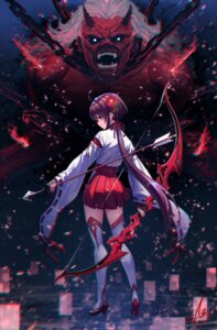 Rating: Safe Score: 50 Tags: heels miko monster sion_(9117) thighhighs weapon User: Mr_GT