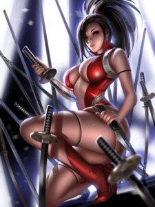 Rating: Questionable Score: 40 Tags: boku_no_hero_academia heels leotard liang_xing no_bra sword thighhighs weapon yaoyorozu_momo User: Darkthought75