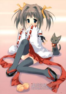 Rating: Questionable Score: 26 Tags: loli miko morinaga_korune neko pantsu thighhighs User: midzki