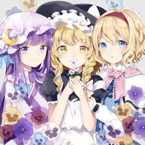 Rating: Safe Score: 30 Tags: alice_margatroid kirisame_marisa patchouli_knowledge risui_(suzu_rks) touhou witch User: BattlequeenYume