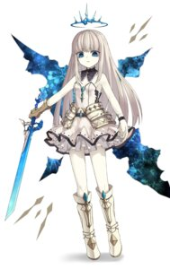 Rating: Questionable Score: 17 Tags: armor cleavage dress nam sword wings User: sym455