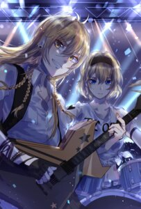 Rating: Safe Score: 15 Tags: alice_margatroid guitar kirisame_marisa meng_ziya touhou User: charunetra
