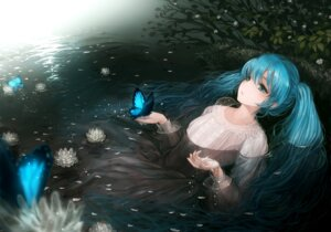 Rating: Safe Score: 70 Tags: dress hatsune_miku sususuyo vocaloid wet_clothes User: fireattack