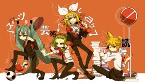 Rating: Safe Score: 10 Tags: aliasing gumi haruka_(artist) hatsune_miku kagamine_len kagamine_rin vocaloid User: animeprincess