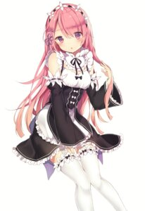 Rating: Safe Score: 98 Tags: kanadetsuki_shion maid ram_(re_zero) re_zero_kara_hajimeru_isekai_seikatsu stockings thighhighs User: Mr_GT