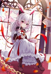 Rating: Questionable Score: 42 Tags: animal_ears benghuai_xueyuan dress heels honkai_impact poinia see_through theresa_apocalypse User: sym455