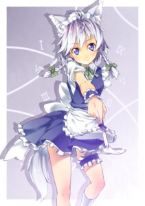 Rating: Safe Score: 27 Tags: animal_ears garter ichi_makoto izayoi_sakuya tail touhou User: Mr_GT