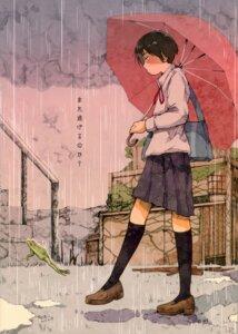 Rating: Safe Score: 7 Tags: seifuku tagme umbrella User: Radioactive