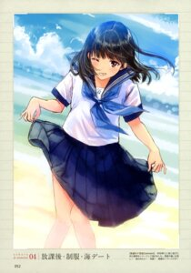 Rating: Questionable Score: 11 Tags: kazuharu_kina see_through seifuku skirt_lift User: drop