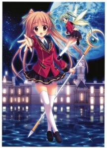 Rating: Safe Score: 20 Tags: amano_satsuki arianrhod fairy hinamatsuri_touko seifuku thighhighs yume_miru_tsuki_no_lunalutia User: Radioactive