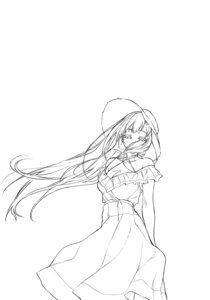 Rating: Safe Score: 10 Tags: ane_naru_mono cleavage dress line_art monochrome pochi_(pochigoya) summer_dress User: kiyoe