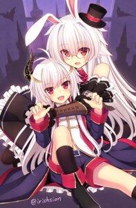 Rating: Safe Score: 24 Tags: animal_ears bunny_ears halloween horns megane murasame_shia User: Mr_GT