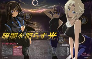 Rating: Safe Score: 45 Tags: cleavage miyata_ao muvluv muvluv_alternative stella_bremer takamura_yui tarisa_manandal total_eclipse uniform User: gogotea28