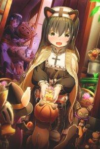 Rating: Safe Score: 14 Tags: abo_(kawatasyunnnosukesabu) animal_ears halloween maid neko nekomimi nun User: Mr_GT