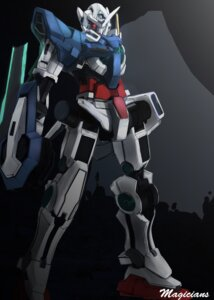 Rating: Safe Score: 9 Tags: gundam gundam_00 gundam_exia magicians mecha sword weapon User: sylver650