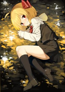 Rating: Safe Score: 25 Tags: rumia seifuku sh touhou User: RyuZU