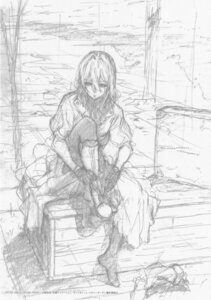 Rating: Safe Score: 9 Tags: monochrome sketch violet_evergarden violet_evergarden_(character) User: tuyenoaminhnhan