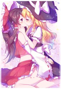 Rating: Questionable Score: 51 Tags: hakurei_reimu kirisame_marisa touhou witch yuri User: Maxpayness