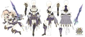 Rating: Safe Score: 13 Tags: armor brave_girl_ravens character_design cleavage heels satsuki_misuzu sketch stockings sword thighhighs User: zyll