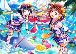 Rating: Safe Score: 24 Tags: love_live!_sunshine!! pantsu shimapan takami_chika tsushima_yoshiko wet User: fly24