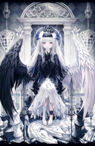 Rating: Safe Score: 29 Tags: bandages gothic_lolita lolita_fashion okazu_(eightstudio) wings User: Arsy