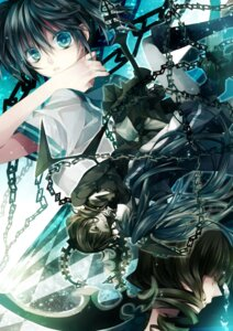 Rating: Safe Score: 18 Tags: black_rock_shooter black_rock_shooter_(character) dead_master kuroi_mato seifuku tsukioka_tsukiho vocaloid User: charunetra