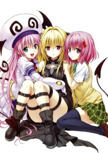 Rating: Safe Score: 51 Tags: devil dress garter golden_darkness lala_satalin_deviluke momo_velia_deviluke seifuku tail thighhighs to_love_ru to_love_ru_darkness yabuki_kentarou User: Radioactive