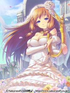 Rating: Safe Score: 41 Tags: cleavage dress piro_(artist) wedding_dress User: blooregardo