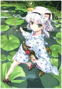 Rating: Safe Score: 30 Tags: animal_ears happoubi_jin yukata User: 4ARMIN4