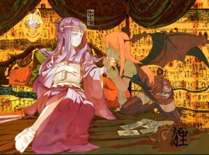 Rating: Safe Score: 17 Tags: cosmic koakuma patchouli_knowledge touhou User: Radioactive