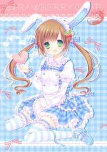 Rating: Safe Score: 28 Tags: animal_ears bunny_ears mizuse_ruka thighhighs User: 椎名深夏