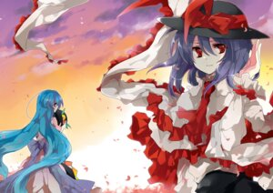 Rating: Safe Score: 7 Tags: hinanawi_tenshi kyrish nagae_iku touhou User: Radioactive