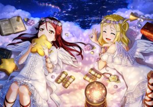 Rating: Safe Score: 21 Tags: angel dress heels love_live!_sunshine!! ohara_mari sakurauchi_riko wings User: fly24