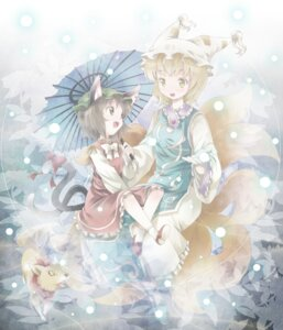 Rating: Safe Score: 9 Tags: animal_ears chen michii_yuuki nekomimi tail touhou yakumo_ran User: Radioactive