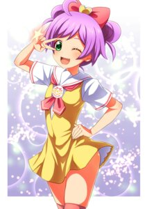 Rating: Safe Score: 26 Tags: manaka_lala pripara rokko seifuku thighhighs User: KazukiNanako