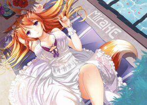 Rating: Safe Score: 55 Tags: animal_ears bra cleavage dress fatke kitsune tail User: gibwar