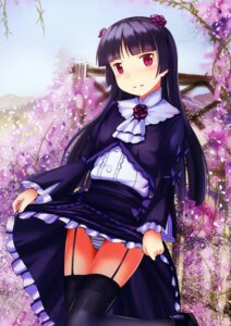 Rating: Questionable Score: 39 Tags: edogawakid garter_belt gokou_ruri ore_no_imouto_ga_konnani_kawaii_wake_ga_nai pantsu shimapan skirt_lift stockings thighhighs User: Twinsenzw