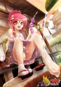 Rating: Questionable Score: 33 Tags: cameltoe feet neko pantsu porurin shimapan yukata User: yumichi-sama