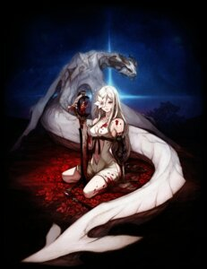 Rating: Questionable Score: 56 Tags: blood cleavage drakengard_3 eyepatch monster square_enix sword zero_(drakengard) User: tbchyu001