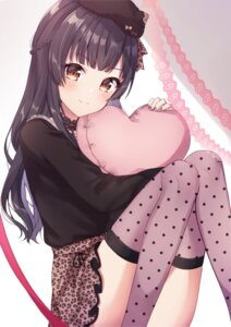 Rating: Safe Score: 34 Tags: mayuzumi_fuyuko mochiko skirt_lift the_idolm@ster the_idolm@ster_shiny_colors thighhighs User: whitespace1