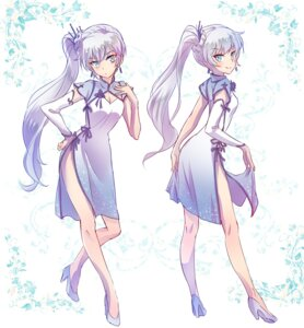 Rating: Safe Score: 44 Tags: chinadress cleavage heels iesupa rwby skirt_lift weiss_schnee User: saemonnokami