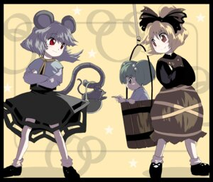 Rating: Safe Score: 8 Tags: animal_ears kisume kurodani_yamame nazrin shape touhou User: konstargirl