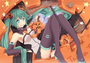 Rating: Safe Score: 44 Tags: halloween hatsune_miku natsuki_yuu_(pixiv1164835) thighhighs vocaloid User: Nekotsúh