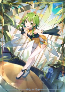 Rating: Safe Score: 42 Tags: bobo_(6630978) cleavage garter gumi thighhighs vocaloid wings User: RyuZU
