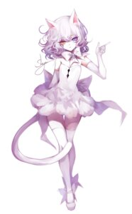 Rating: Safe Score: 26 Tags: animal_ears dress heterochromia nekomimi sheya tail thighhighs User: BattlequeenYume